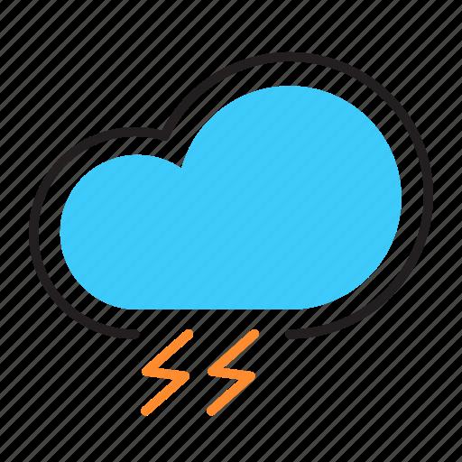 Climate, thunder, lightning, weather, storm, bad weather icon