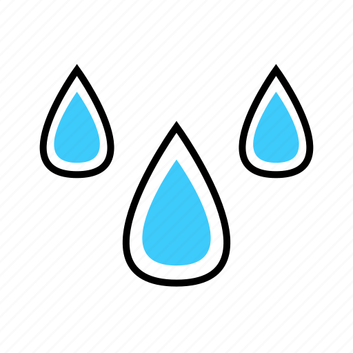 climate, drop, rain, water, weather icon