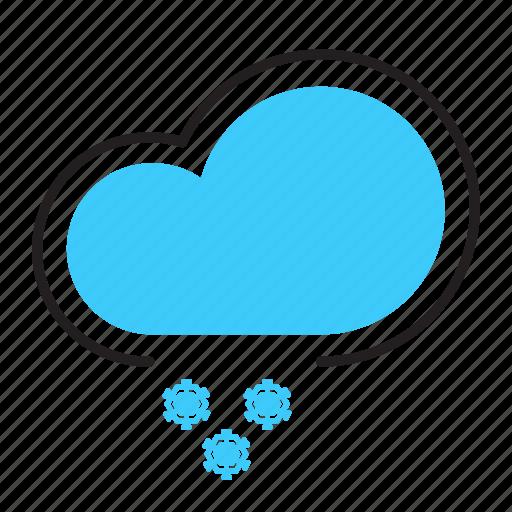 cloud, flurries, snow, snow flake, weather icon