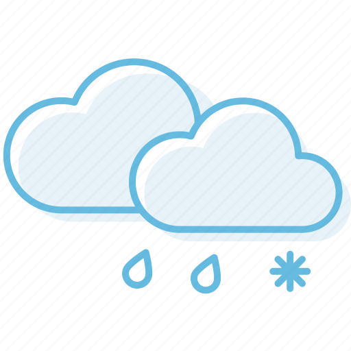 Cloud, cloudy, snow, weather icon - Download on Iconfinder