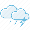 cloud, cloudy, thundershowe, weather icon