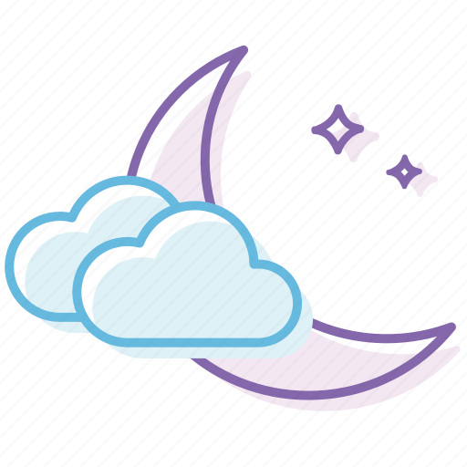 cloud, cloudy, night, weather icon
