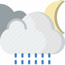 clouds, forecast, raining, weather icon