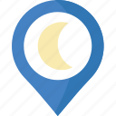 forecast, nighttime, weather icon