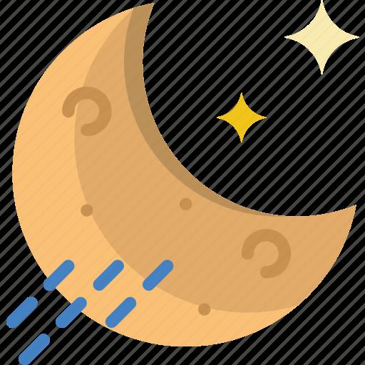forecast, night, rainy, weather icon