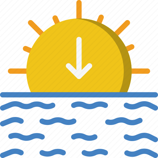 Forecast, sunset, weather icon - Download on Iconfinder