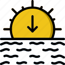 forecast, sunset, weather icon