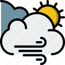 forecast, weather, windy icon