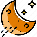 forecast, night, rainy, weather icon