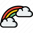 forecast, rainbow, weather icon