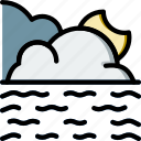 calm, forecast, sea, weather icon