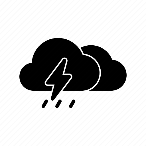 cloud, cloudy, meteo, rain, thunder, thunderstorm, weather icon