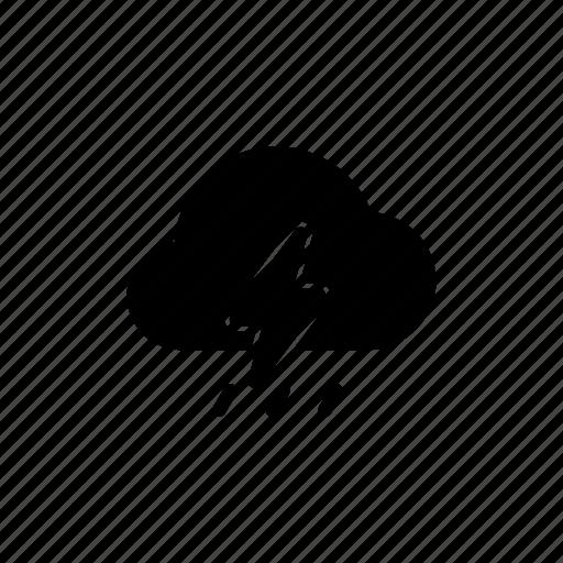 cloud, meteo, rain, rainy, thunder, thunderstorm, weather icon