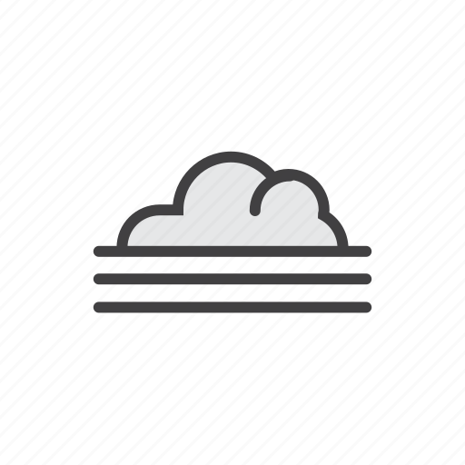 cloud, cloudy, fog, forecast, morning icon