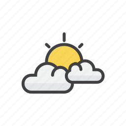 clouds, forecast, partly, sunny icon