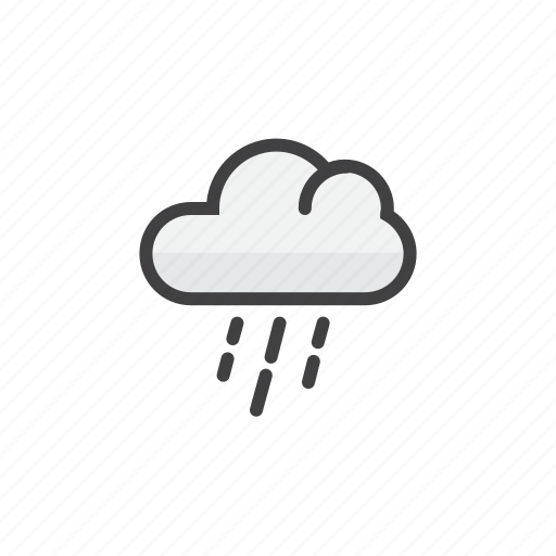cloud, drops, forecast, shower, weather icon