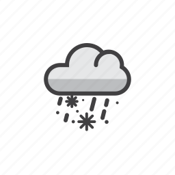 drops, sleet, snow, winner, winter icon
