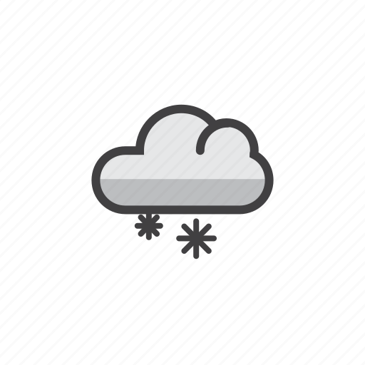cloud, forecast, snow, snowflake, weather icon