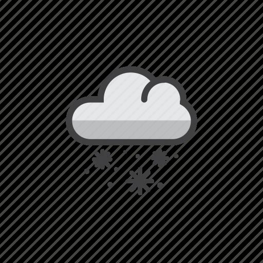 cloud, snowy, weather, winner, winter icon