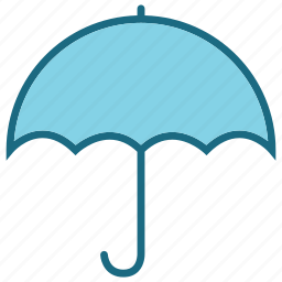 forcast, insurance, protection, rain, umbrella, weather icon