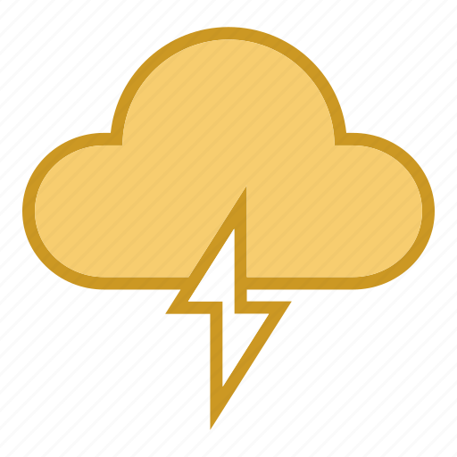 cloud, forcast, light, lightning, weather icon