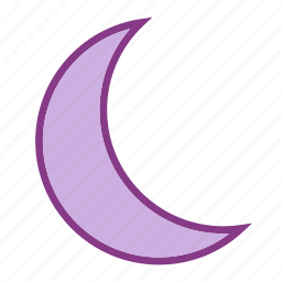 crescent moon, forcast, weather icon