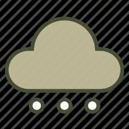 cloud, forcast, snow, weather icon