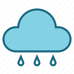 cloud, drop, forcast, rain, water, weather icon