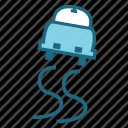 forcast, ice, sliding icon