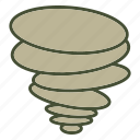 natural disaster, tornado, weather icon
