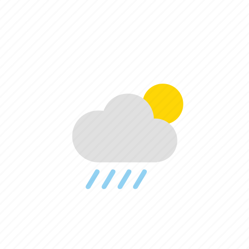 cloud, cloudy, rain, sun, weathers icon