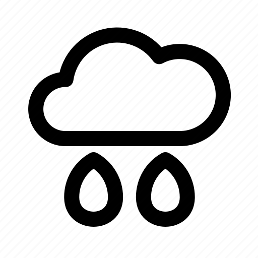 atmospheric, cloud, meteorology, rain, weather icon