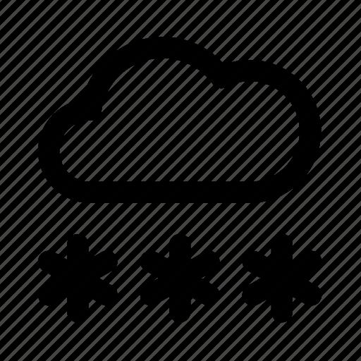 atmospheric, cloud, meteorology, snow, snowfall, weather icon