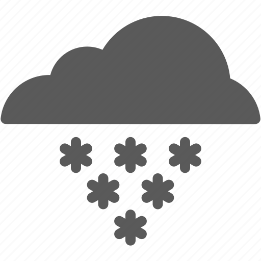cloud, cold, forecast, snow, snowflake, winter icon
