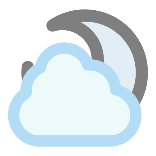 cloudy, moon icon