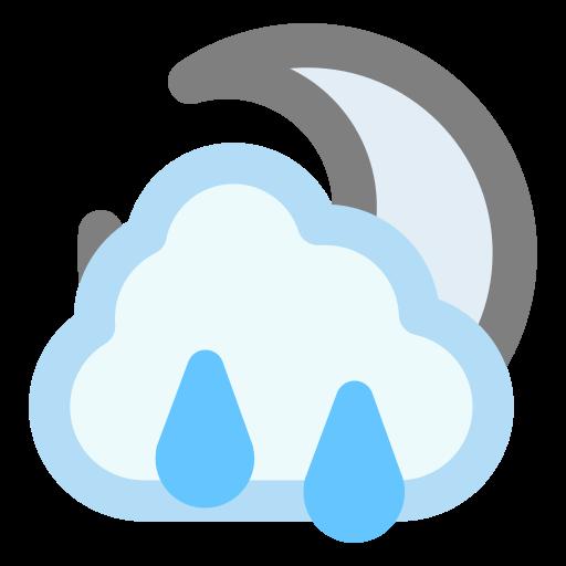 cloud, moon, rain, raincloud icon