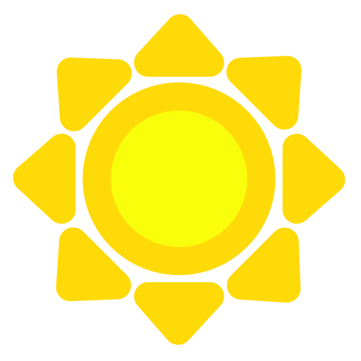 pointy, sun icon