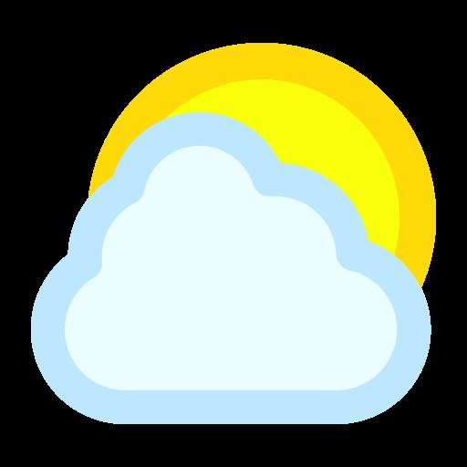 cloud, cloudy, sun icon