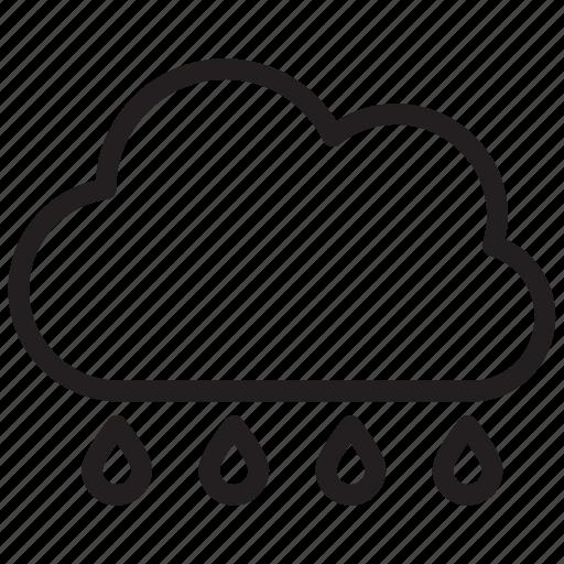 Cloud, rain, weather, rainy icon - Download on Iconfinder