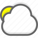 cloud, clouds, cloudy, forecast, sun, weather icon