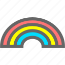cloudy, rainbow, weather icon
