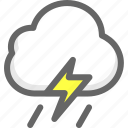 cloud, cloudy, rain, shower, weather icon