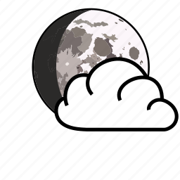 cloud, moon, sky, weather icon