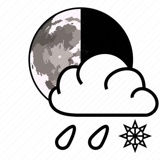 cloud, rain, snow, wrather icon