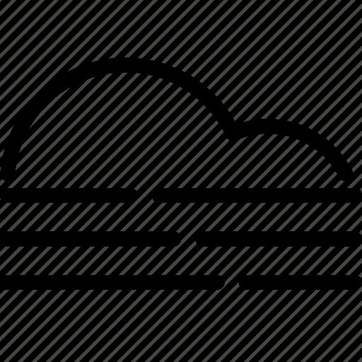 cloud, forecast, hazy, sunshine, weather icon