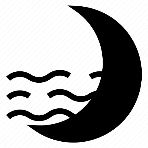 climate, moon, night, sleep, weather icon