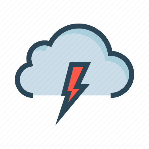 climate, cloud, flash, server, weather icon