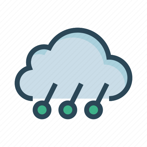climate, cloud, rain, snowflake, weather icon