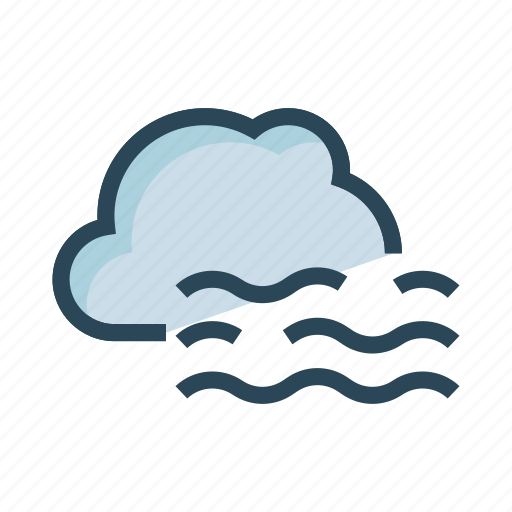 climate, cloud, river, sea, weather icon
