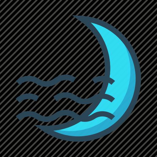 climate, moon, night, sleep, weather icon
